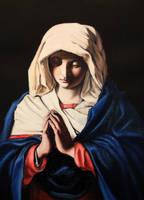 deep blue - Sassoferrato study by zednaked