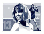 Taylor Swift - vector monocrome  by opparudy