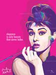 Audrey Hepburn - VECTOR ART by opparudy