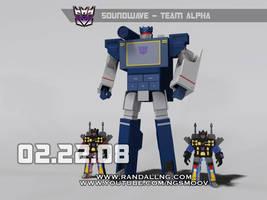 Soundwave - Team Alpha G1 3D by rando3d