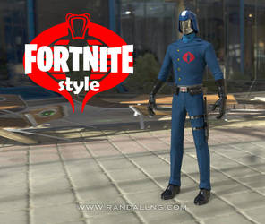 Cobra Commander x Fortnite by rando3d