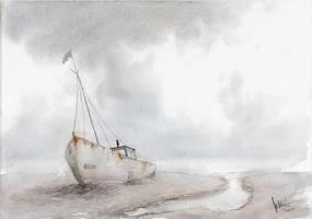 Old Rusty Boat by mwolski