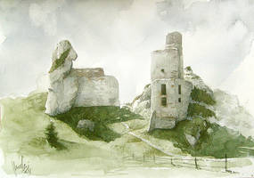 Castle Ruins in Olsztyn by mwolski