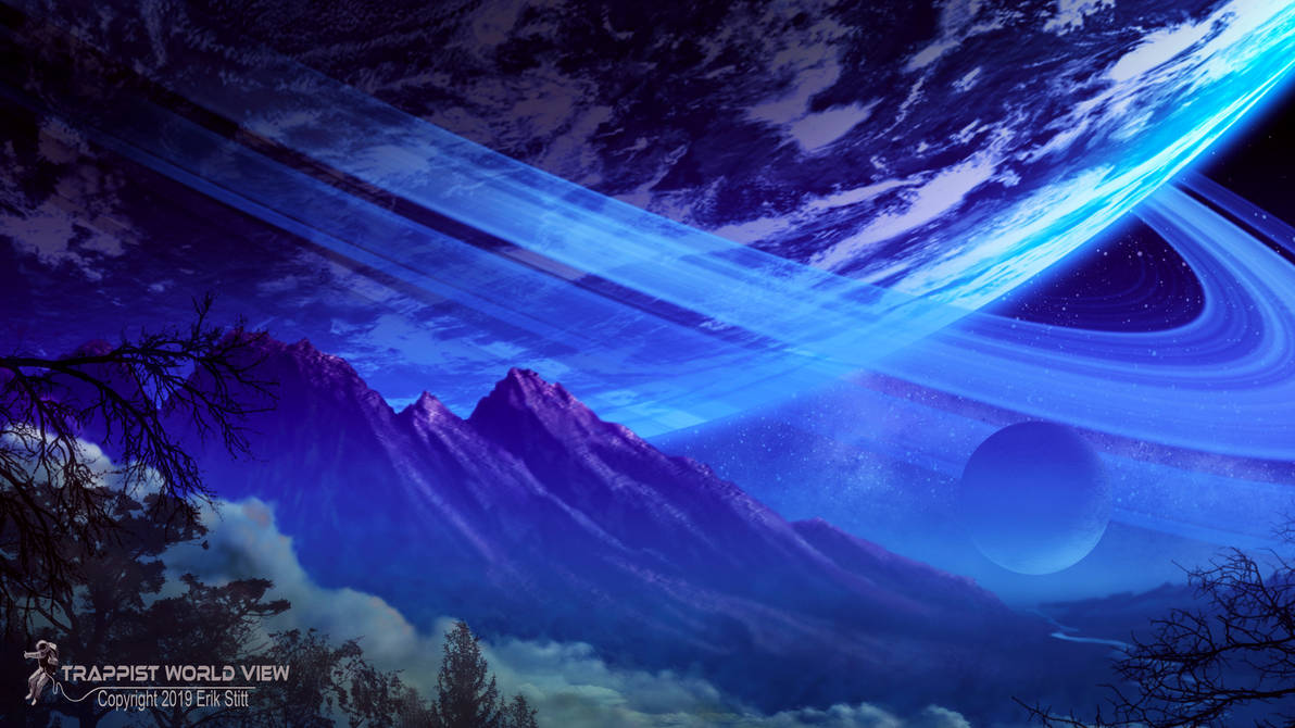Звёздное небо и космос в картинках - Страница 9 Trappist_world_view_by_redwoodjedi_dcyywaz-pre