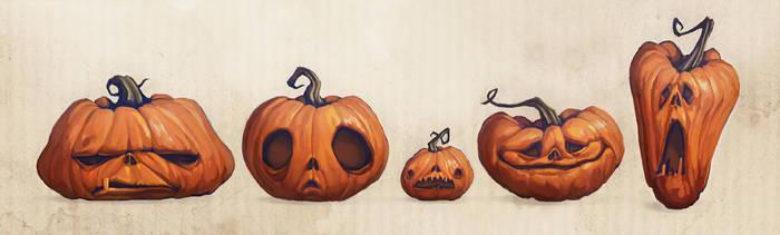 Pumpkins by AudreyBenjaminsen