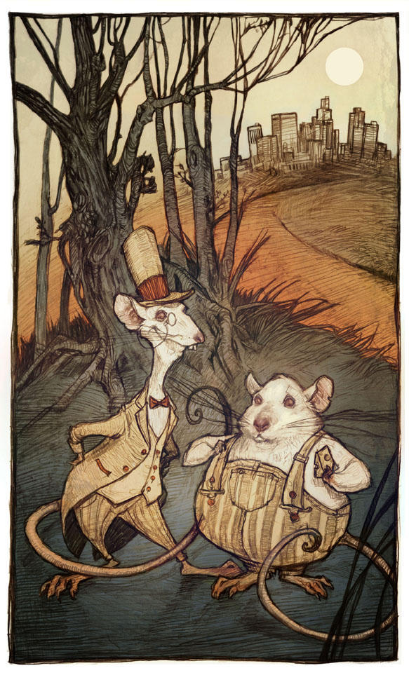 City Mouse Country Mouse by AudreyBenjaminsen