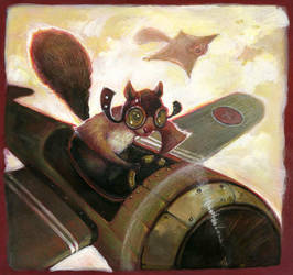 The Flying Squirrel by AudreyBenjaminsen