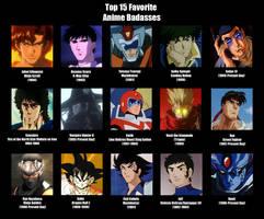 Top 15 Favorite Anime Badasses by MDTartist83