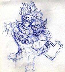 Kiryn and Riko by Asemoth