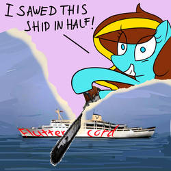 KP SAWS A SHIP IN HALF by GB3267