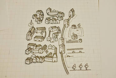 Archaic Style Village Map by Kenegan