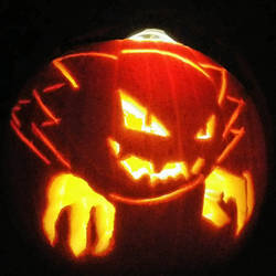 Haunter Pokemon Halloween Pumpkin by Kenegan