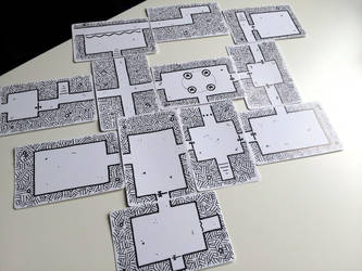 Playing Card Dungeon Map by Kenegan