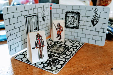 Plastic Wipeable Card Dungeon by Kenegan
