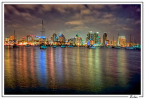San Diego Downtown  Night III by paradigm-art