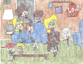 Colored pencil crazies#6: The Loud House by Amazing-A2001
