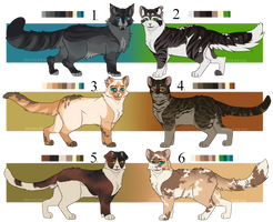 Cat Adoptables (set price) (CLOSED) by th1stlew1ng
