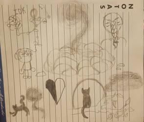 Random Doodles lol by KayleeA