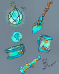 Wailing barnacle inspired items by fenrier