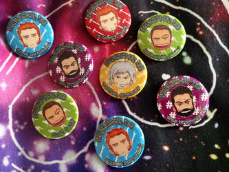 WrenchersCon buttons by LadyDorian