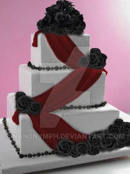 Wedding Cake Design1 by LyraBlackArt