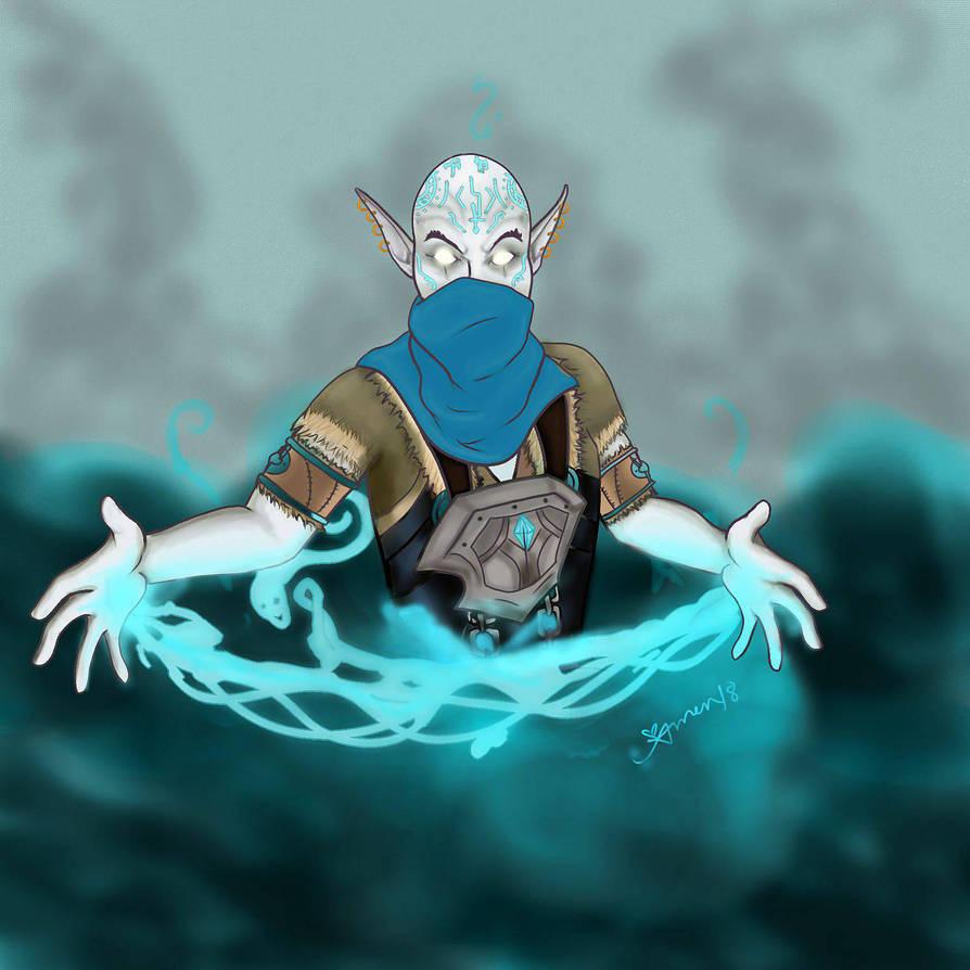 Draenei Commission - Death Shepherd Unkh by LyraBlackArt