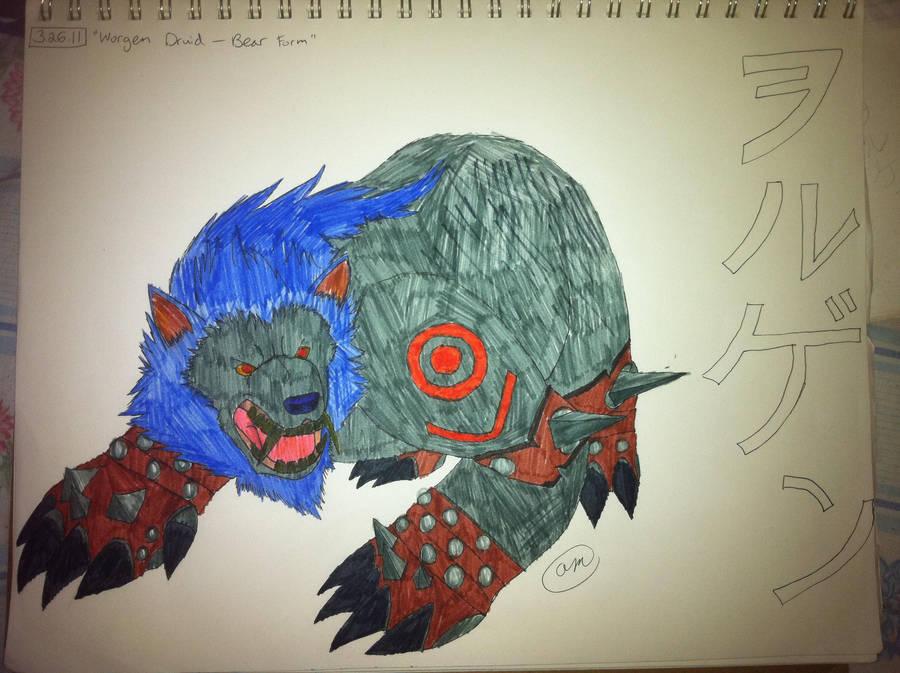 Worgen Druid Bear Form Color By Cammy Bear On Deviantart