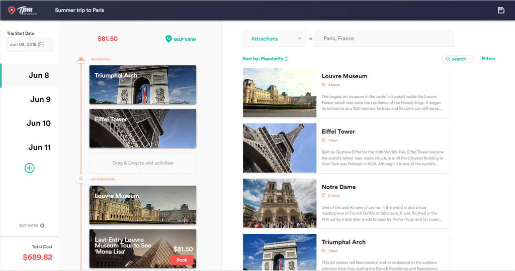 travel itinerary builder free online trip planner by