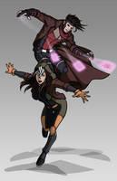 X-men Costume Redesign: Rogue and Gambit by Hiroki8