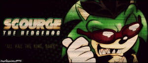 Scourge The Hedgehog Banner by DeathGoddess1995