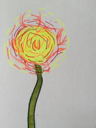 Fire flower by MARVELcomicsnerd