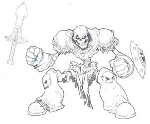 The Undead Trooper Sketch by miniboy