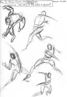 Marvel Gesture Sketches by TheLadyNerd