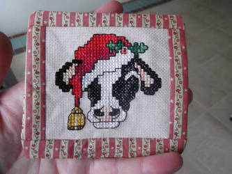 Christmas Cow Ornament by kanitted