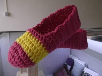 Crochet Ballet Flat Slippers by kanitted