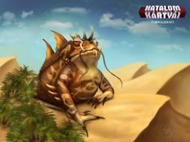 Bufo Giganticus fantasyensis - desert toad by Anikoo
