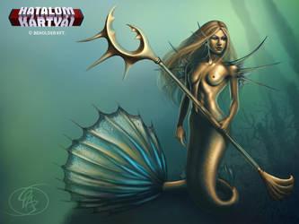 Mermaid warrior by Anikoo