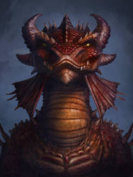 Dragon portrait by Anikoo