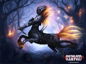 Alpha Centaurus - the leader of Ebony Archers by Anikoo