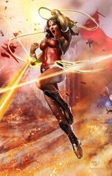 Wonder Woman -- Justice League by samrkennedy
