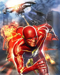 Flash -- Justice League by samrkennedy