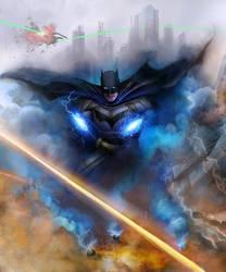 JusticeLeague Batman Kennedy by samrkennedy