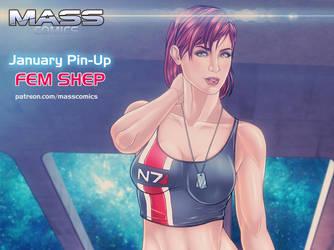 Female Commander Shepard by Eromaxi