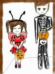 Jack and his sister trick or treating by FictionLover987