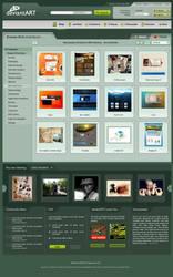 DeviantART Remix FrontPage by agneva