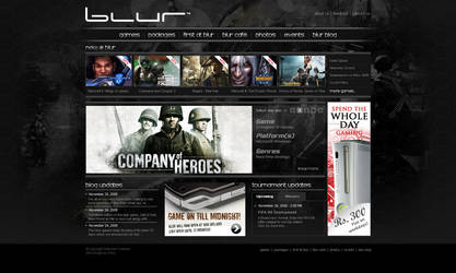 Blur Website by agneva