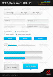 Soft n Sleek Web UI Kit by agneva