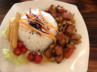 Vegan toufu meal by Doll1988