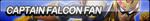 Captain Falcon Fan Button (UPDATED) by ButtonsMaker