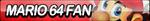 Super Mario 64 Fan Button by ButtonsMaker